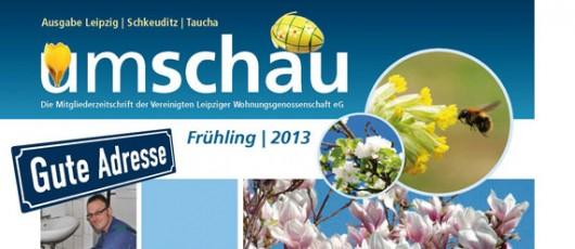 UMSCHAU, Ausgabe 1-2013, Mitgliederzeitschrift VLW eG Leipzig