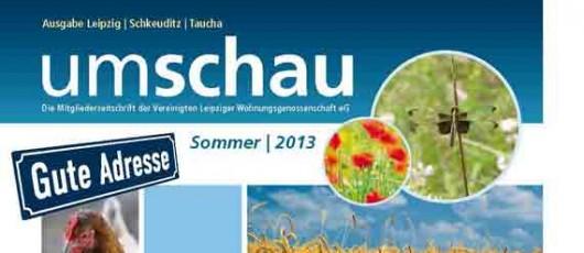 UMSCHAU, Ausgabe 2-2013, Mitgliederzeitschrift VLW eG Leipzig