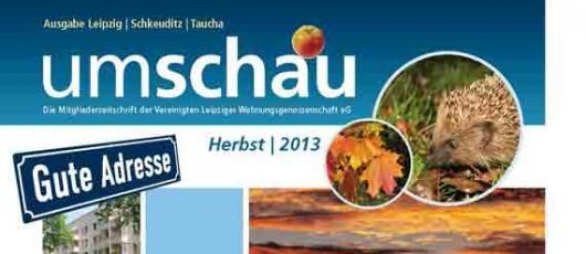 UMSCHAU, Ausgabe 3-2013, Mitgliederzeitschrift VLW eG Leipzig