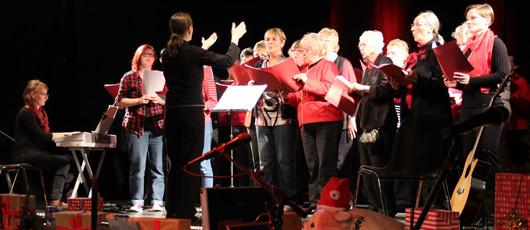 """Auftritt Chor """"Singen bei uns"""" am 29. November 2015 im Werk 2, Leipzig."""